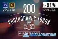 200 Photography Logos All Volumes 70379 Free Download Graphics Fonts Vectors Print Templates Gfxmountain Com
