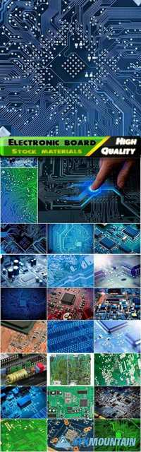 Electronic board and hardware repair and technological backgrounds
