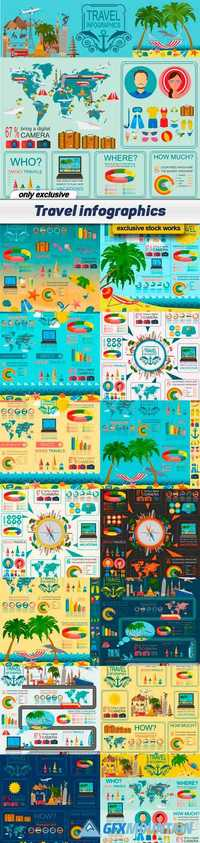 Travel infographics - 15 EPS