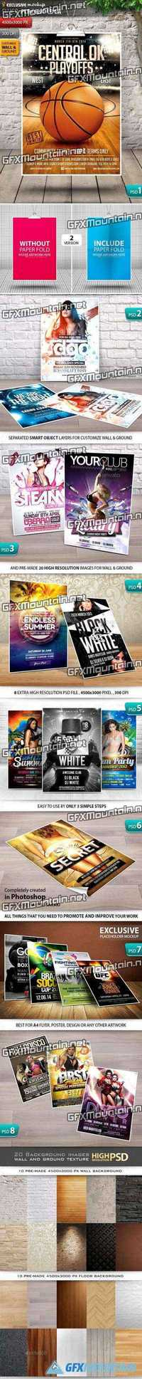 Graphicriver Exclusive A4 Flyer & Poster Mockup V1.0 11902769