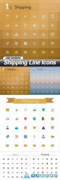 Shipping Line Icons - 5 EPS