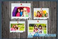 Elegant Torn Paper Photo Frame 395945