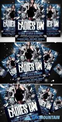 Ladies On Flyer Template 406056