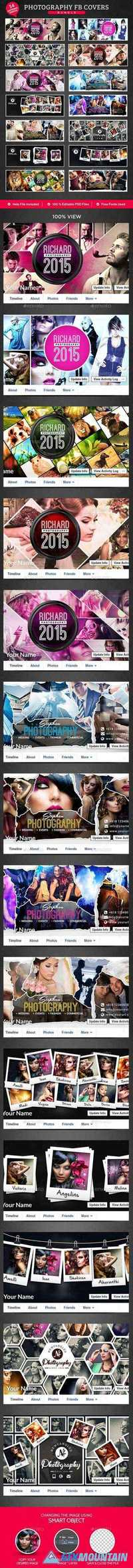 Graphicriver Photography Facebook Cover Bundle - 14 Designs 13139472