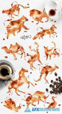 Coffee Animals Stains 408071