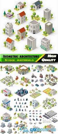 Isometric buildings and factories and skyscrapers - 25 Eps