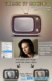 Graphicriver Vintage TV Mock-Up