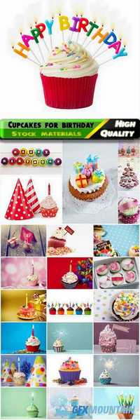 Delicious cakes and cupcakes for birthday - 25 HQ Jpg