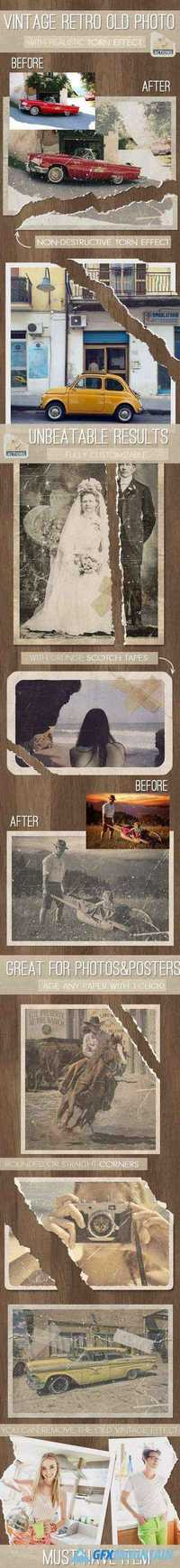 GraphicRiver - Old Photo with Torn Ripped Effect Photoshop Action 12406934