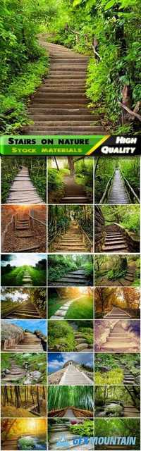 Stairs on parks and oudoor nature landscapes - 25 HQ Jpg