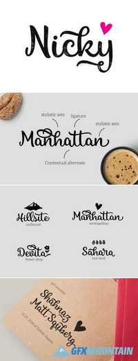 Calligraphic vintage styled font 445760