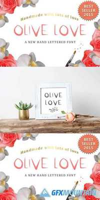 Olive Love Font - a True Type Font 481814