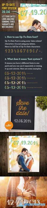 Up-To-Date Font | Zig Zag 16442