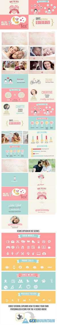 Videohive The Two Of Us Love Story Timeline & Save The Date 13374987