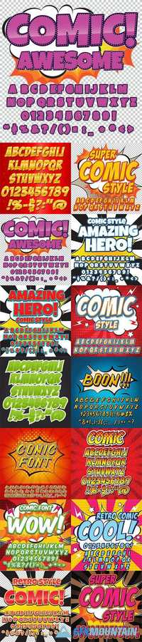 Comic alphabet collection2