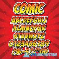 Comic Alphabet Collection2 187 Free Download Graphics Fonts