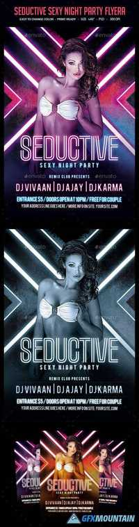 Seductive Sexy Night Party Flyer 12797188
