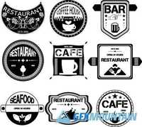 Restaurant retro vintage badges and labels