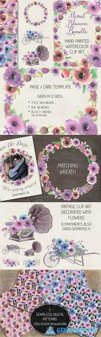Watercolor bundle: large blooms 530819