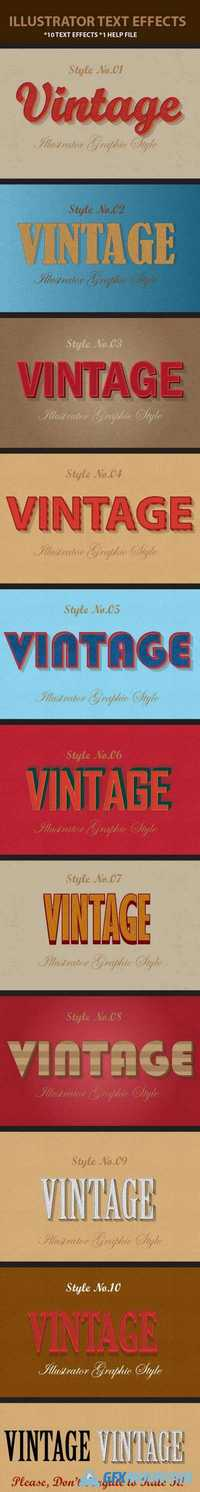 Retro Vintage Text Effects 12274747