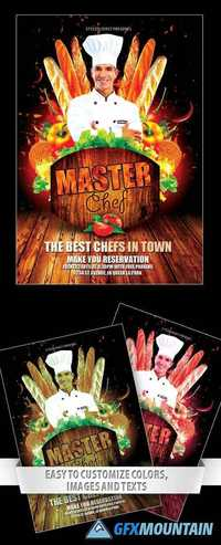 master chef flyer template  u00bb free download graphics  fonts  vectors  print templates