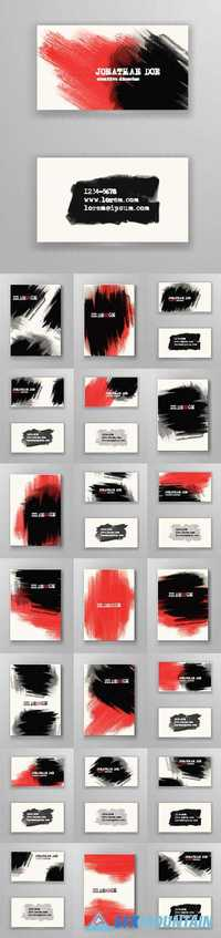 Business cards poster booklet grunge paint