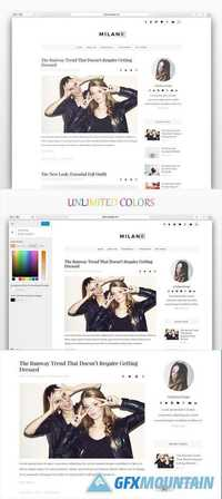 Milano - Wordpress blog theme - CM 505466