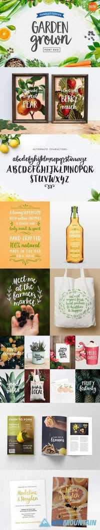 Garden Grown Font Duo Free Download Graphics Fonts Vectors Print Templates