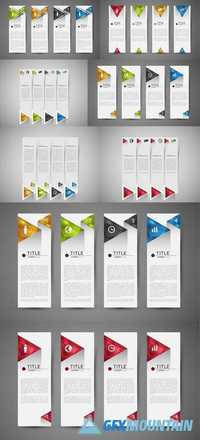Option Infographic Banners with Crystal Triangles