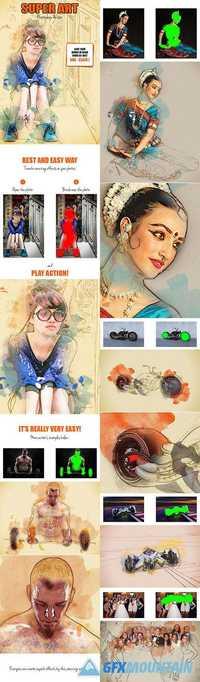 GraphicRiver - Super Art Photoshop Action 16081495
