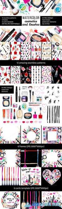 Watercolor cosmetic collection 677953