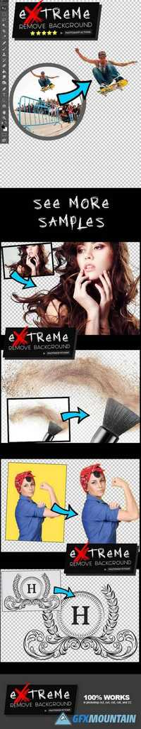 Graphicriver Extreme Remove Background Photoshop Actions