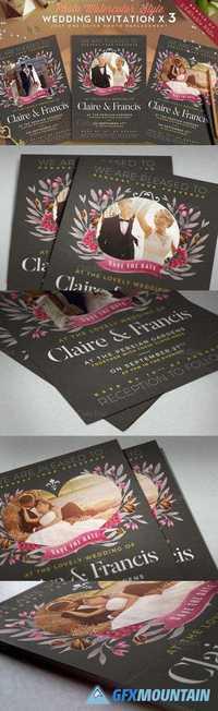 Photo Watercolor Wedding Invite II 695191
