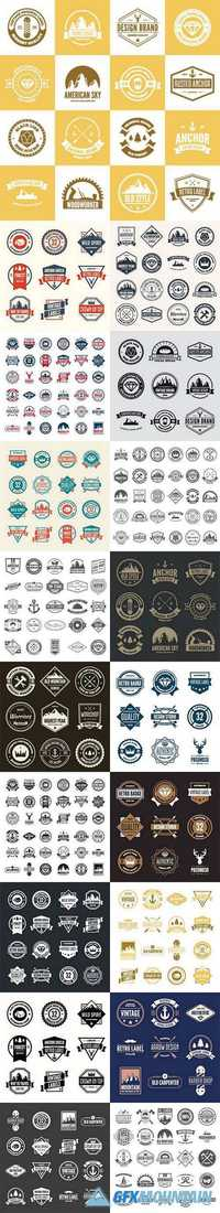 Logo elements icons symbols labels badges