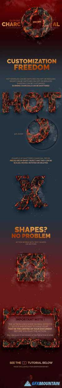 GraphicRiver - Burning Charcoal - Photoshop Action 16751028