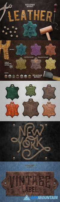 Leather Layer Styles For Photoshop 758880