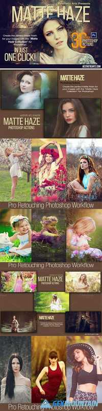 Matte Haze Photoshop Actions - Pro Retouching Workflow