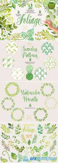 Watercolor foliage collection 752830
