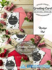 Card Mockup Styled Stock Photograph 697055
