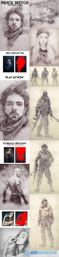 Graphicriver pencil sketch photoshop action 17227306