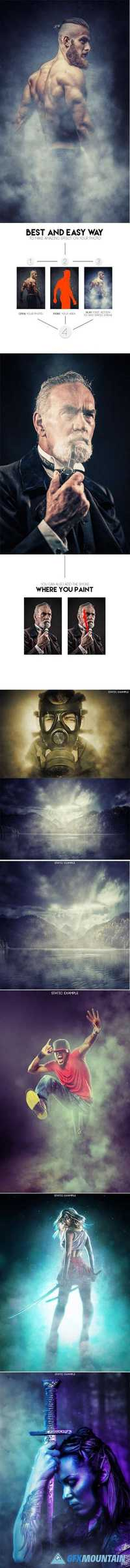 GraphicRiver - Animated Smoke Photoshop Action 17527624 » Free