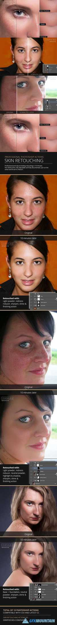 Skin Retouch Photoshop Actions  895881
