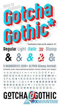 template gothic font free - gotcha gothic font family free download graphics fonts