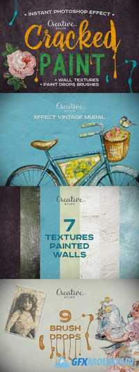 Vintage Cracked Paint Effect 925095
