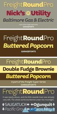 Freight Round Pro Font Family