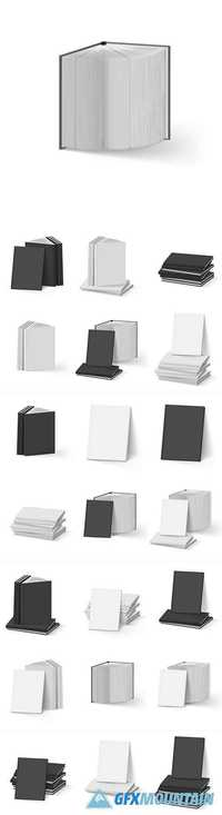 Blank book for advertising template
