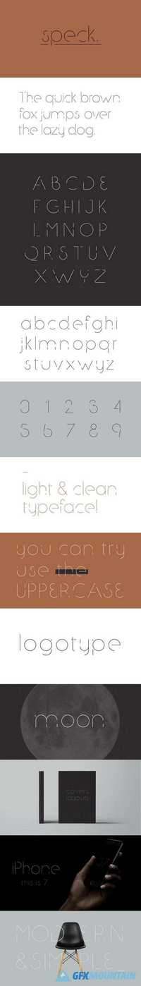 Speck Display - Typeface