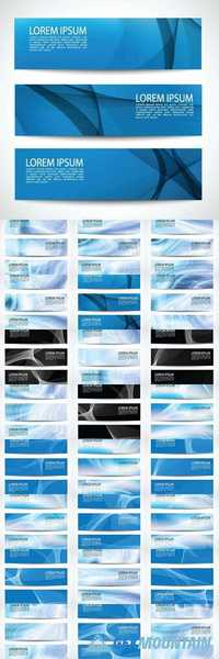Horizontal business banner templates