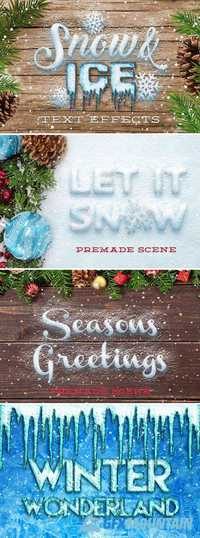 Snow & Ice Text Effects 986306