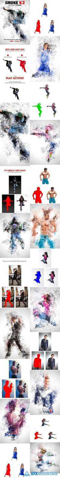 GraphicRiver - Smoke V.2 Photoshop Action - 18065902